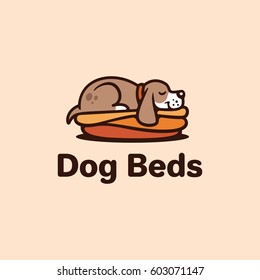 Dog beds. Logo template.