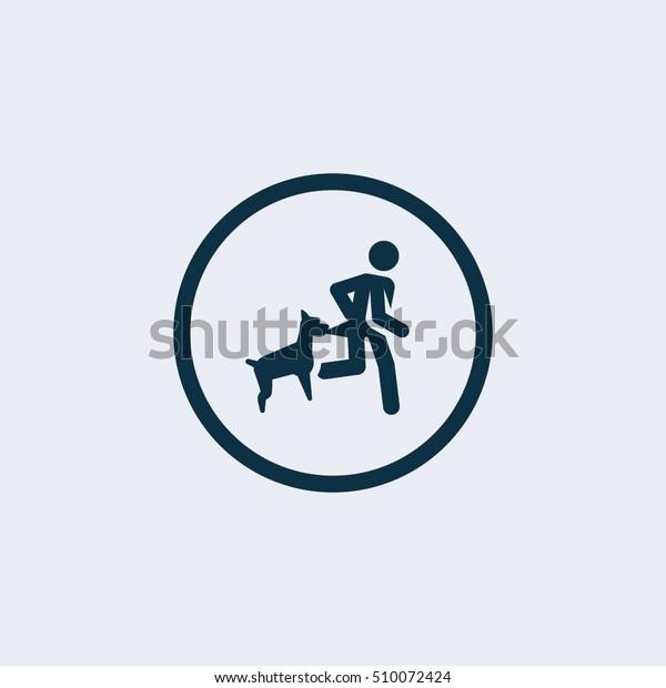 Dog bite man icon. dog  attack icon,damage icon