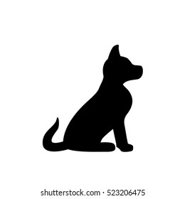 dog black silhouette