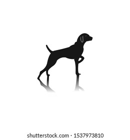 Dog Black Vector And Shadow On Legs For Logo And Icon