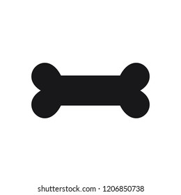 dog bone black symbol isolated on the white background logo fill