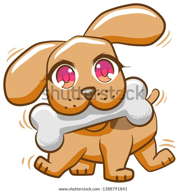 Cartoon Dog Bone In Mouth Clipart Png - Dog With Bone Clipart Transparent  Png (#3443516) - PinClipart