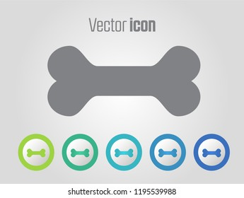 dog bone vector icons and different color variations