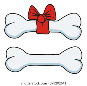 Dog bone vector illustration