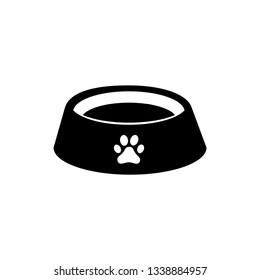 Dog bowl vector icon.