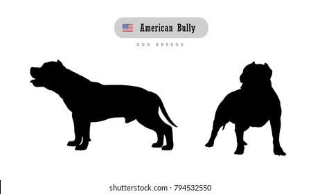 Imágenes, fotos de stock y vectores sobre Pitbull Silhoutte