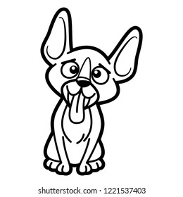 Cat Cartoon Character Coloring Page Black Stock Vector Royalty Free
