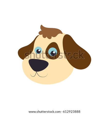 Dog Cartoon Drawing Head Stock Vector Royalty Free 612923888