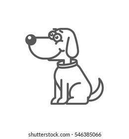 Dog cartoon icon
