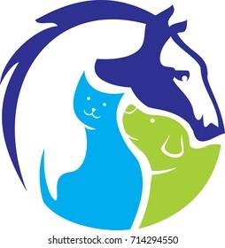 dog cat horse logo