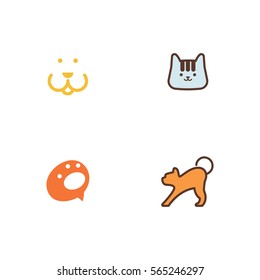 Dog Cat Icon Logo Vector Set Element