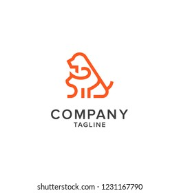 dog and cat logo, pet shop, animal care, pet care, dog care, pet health, animals hospital, animals clinic, logo design for dog and cat, training for business, Modern animal badge for veterinary clinic