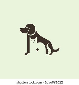 dog and cat logo pet vector illustration