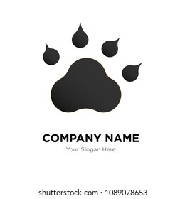 Dog or cat paw print company logo design template, Business corporate vector icon, dog or cat paw print symbol