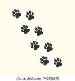 Dog or cat paw print icon, vector illustration.