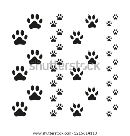 a3e0559be042 Dog Cat Paw Print Vector Illustration Stock Vector (Royalty Free ...