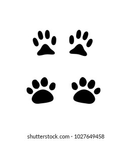 Dog and cat paw prints