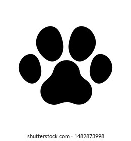 Dog or cat paw. vector illustration