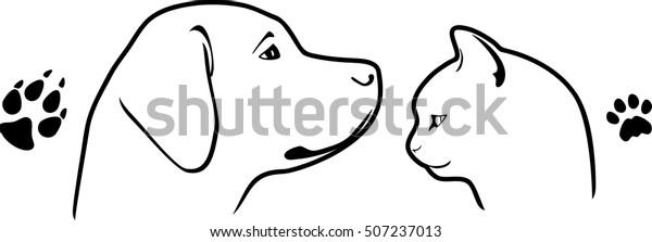 dog-cat-their-footprints-vector-600w-507