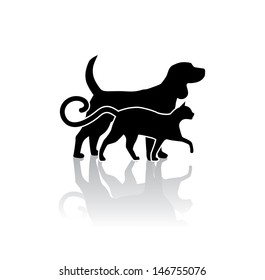 Dog and cat veterinary icon. EPS 10 vector, grouped for easy editing. No open shapes or paths.