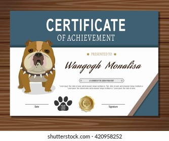 Dog certificate images stock photos vectors shutterstock for Dog certificate template