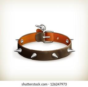 Dog collar, vector