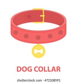 Dog collar vector icon in cartoon style for web