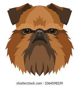 Dog collection Griffon Bruxellois Geometric style Avatar icon