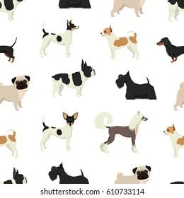 Dog collection Seamless pattern set