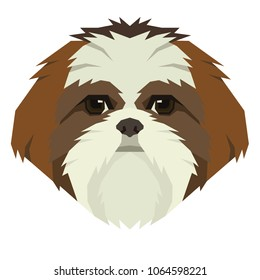 Dog collection Shih Tzu Geometric style Avatar icon