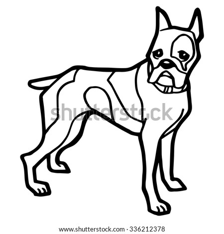 Dog Coloring Page White Background Stock Vector (Royalty Free ...