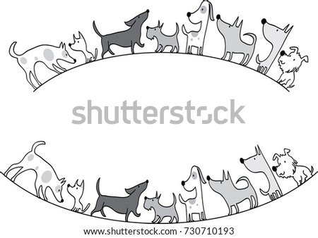 Dog Design Stock Vector Royalty Free 730710193