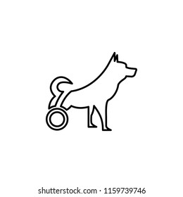 dog is disabled icon. Element of disabled icon for mobile concept and web apps. Thin line dog is disabled icon can be used for web and mobile