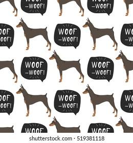 Imágenes, fotos de stock y vectores sobre Dog Seamless