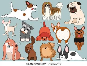dog doodle set