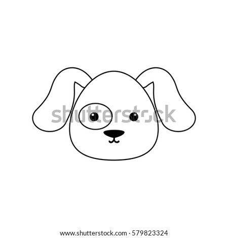 dog drawing face stock vector royalty free 579823324 shutterstock