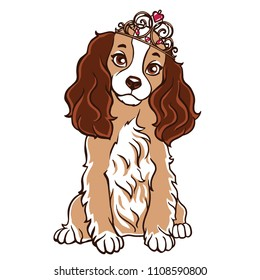 Dog english cocker spaniel art vector