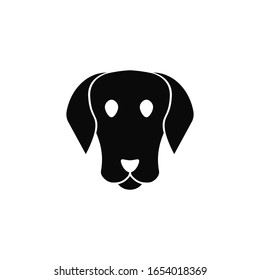 Dog face icon design isolated on white background. Vector illustration