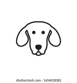 Dog face icon design isolated on white background. Vector illustration