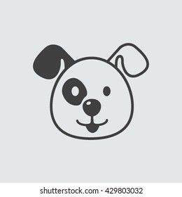 Dog Face icon isolated in a flat style. Vector illustration