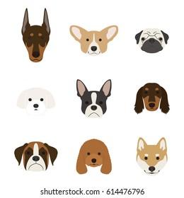 Dog face set