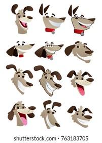 Dog faces set