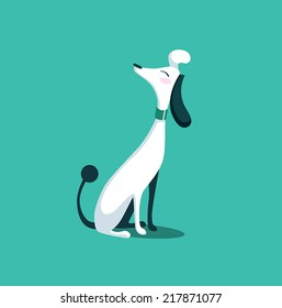 dog fancy cartoon illustration vector isolated