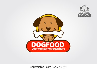 Dog Food Template. Little Friends is a clean and professional logo template that is suitable for business or personal identity associated with food, healthcare pet stores, and other business areas.