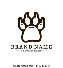 Dog Foot logo Design Vector Template. Dog icon logo vector