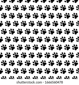 dog footprint seamless pattern vector. paw foot print background texture.