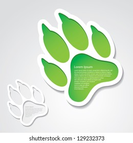 Dog footprint sticker - vector illustration