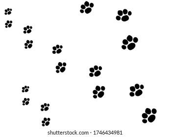 Dog footprints background image, black and white background images