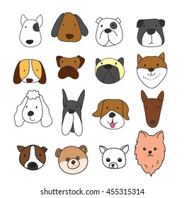dog freehand character design