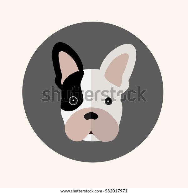 Dog graphic design vector.